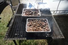 Bitar av lammkött
